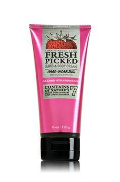 Fresh Picked Garden Strawberries Hardworking Hand & Body Cream - Anti-Bacterial - Bath & Body Works