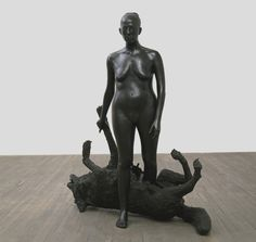 La Loba  There is an old woman who lives in a hidden place that everyone knows but few have ever seen. Clarissa Pinkola Estes, Women Who Run With The Wolves. Pp.26-28. img src: Kiki Smith