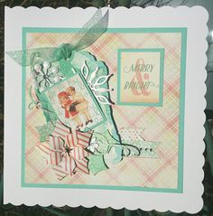 Card made by Erica Evans using #primamarketinginc Sweet Peppermint collection