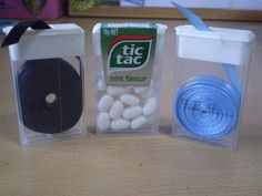 Use Tic Tac containers to organize and dispense small items.