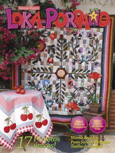 edição de agosto/2013 colcha da capa - por mim executada, Gina Koyashiki, sob orientação de Samar Kauss (Happy Quilter-Brasil) - baseada no projeto de Kim Diehl