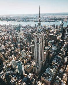 Empire State Building by Paul Seibert @PSeibertPhoto @flynyon... #nyc #newyork #newyorkcity #manhattan #brooklyn #queens #eastvillage #westvillage #midtown #downtown #tribeca #soho #uppereastside #upperwestside