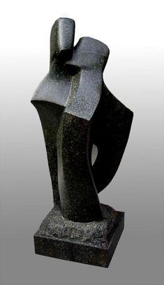 The Kiss – Soapstone by British artist John Brown