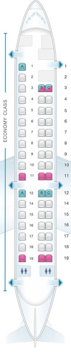 Seat Map Aeromexico Embraer ERJ 145 #pasajesbaratos