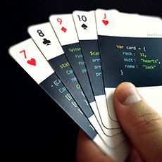 code:deck - playing cards for developers  This is a genius idea! I need these cards so I can play games with all my new graphic design friends!