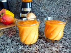 This is a quick and easy breakfast or snack. Just three ingredients and water or juice of choice. Quick And Easy Breakfast, Juicing, Smoothies, Mango, Healthy Eating, Tropical, Yummy Food, Favorite Recipes, Snacks