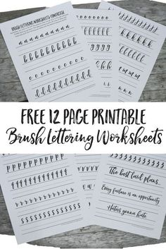 Free Brush Lettering Worksheets ANYONE can brush letter as long as you have the 3 P's: Pen, Patience, Practice. Let's talk about it and try it out with some free brush lettering worksheets! Shared via Interested in learning letters? Lettering Brush, Brush Lettering Worksheet, Hand Lettering Practice, Calligraphy Practice, Calligraphy Handwriting, Calligraphy Letters, Penmanship, Calligraphy For Beginners Worksheets, Cursive