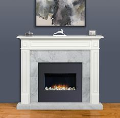Pearl Mantels The Mike 60 in. x 52 in. MDF White Full Surround – The Home Depot – Fireplace tile ideas White Fireplace Mantels, Fireplace Mantel Surrounds, Fireplace Inserts, Fireplace Mantle, Fireplace Design, Fireplace Ideas, Fireplace Update, Fireplace Remodel, Mantles
