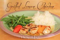 Grilled Lemon Chicken with Nakano seasoned rice vinegar