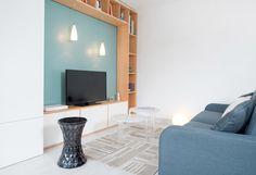 Côté Saône, aménagement, décoration d'un appartement à Caluire. Lyon, rénovation, agencement, travaux, architecture, style scandinave, lumineux fonctionnel.