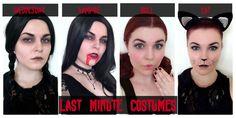 Last Minute Costumes - Wednesday Addams, Vampire, Doll, Cat Halloween 2015, Halloween Cat, Last Minute Costumes, Wednesday Addams, Dolls, Youtube, Movie Posters, Baby Dolls, Puppet