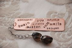 Favorite Author Bookmark by FancyGirlDesigns on Etsy, $10.00