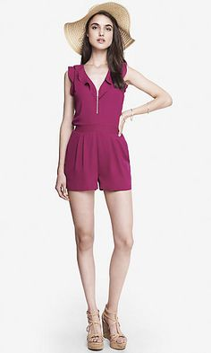PINK RUFFLE FRONT ROMPER
