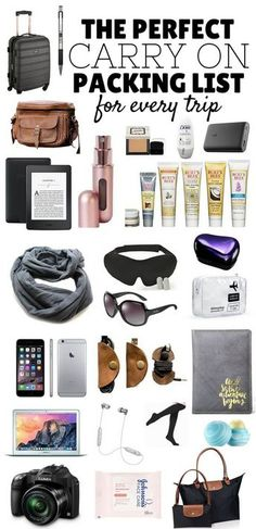 The Perfect Carry On Packing List! Click to learn how to pack your carry on bag like a pro for every trip - inc Tech, Comfort & Style **************************************************************************** Pack Like A Pro   Carry On Packing List   What To Pack In Your Carry On   Packing Tips   Packing List
