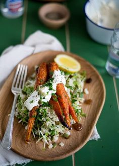 Brown Rice  Roasted Carrot Salad with Tahini Dressing