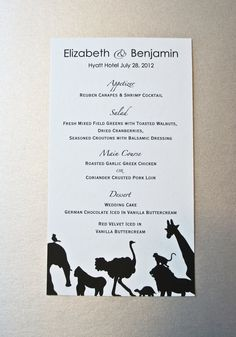 Wedding Menu Cards set of 100 by JonNiPaperGoods on Etsy