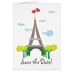 Paris Wedding Save the Date Paris Wedding Save the Date Card