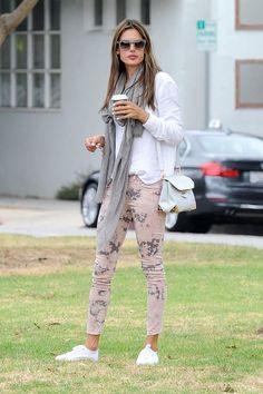 alessandra ambrosio printed leggings - Google Search