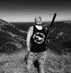 NEW! Own The Ground You Walk On - Streetwear. New Zealand. Hunt. Shooter. Staffy design. Long style singlet. RRP $44.95