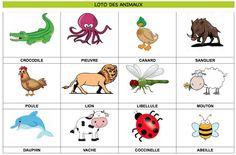Loto des animaux à imprimer   60 ANIMAUX AU TOTAL Partie 3/5 - retrouvez les autres planches sur mon profil!