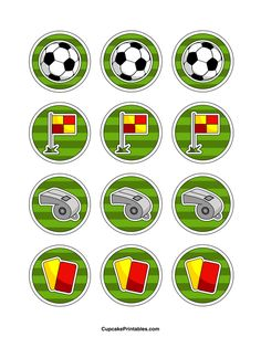 Use the circles for cupcakes, party favor tags, and… Soccer Birthday Parties, Football Birthday, Soccer Party, Star Wars Birthday, Sports Party, Birthday Party Themes, Party Favor Tags, Party Favors, Party Printables
