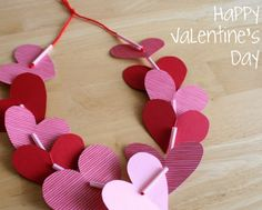 Heart leis | Adorable (and Fun!) Valentine's Day Crafts Your Kids Will Love | The Bump Blog – Pregnancy and Parenting News and Trends