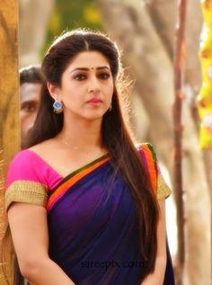 "Hindi TV serial actress Sonarika Bhadoria beautiful photo from her telugu movie""Speedunnodu"". Sonarika Bhadoria latest photos in half saree."