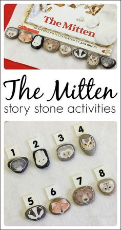 Make story stones for kids to retell the story of The Mitten. A great addition to The Mitten activities for preschoolers and kindergartners. Language Activities, Literacy Activities, Winter Activities, Activities For Kids, The Mitten Book Activities, Literacy Bags, Preschool Books, Kindergarten Literacy, Early Literacy