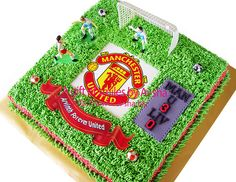 Birthday Cake with Manchester United Edible Image