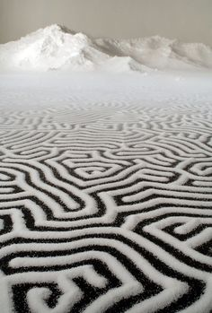 Japanese Artist Motoi Yamamoto uses salt as an expression of his art.