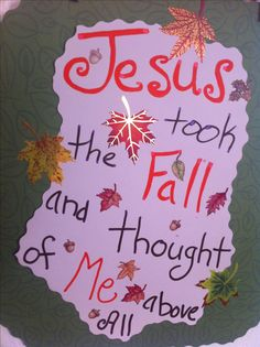 I love this idea for Fall and Thanksgiving! All about Jesus <3