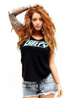 Womens Fast & Dirty by Dirty Shirty Bad Girl Biker...