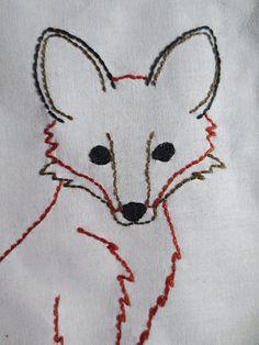 Fox PDF Embroidery Pattern von TheBellaModiste auf Etsy, $3.00