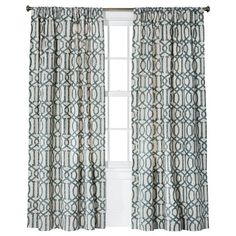"Threshold™ Farrah Fretwork Curtain Panel - Blue (54x95"")"