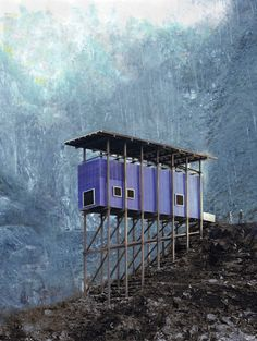 Mining Museum and Cafe in Norway's Allmannajuvet canyon designed by Swiss architect Peter Zumthor