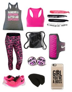 """""""Cupcake Jogger"""" by aggie-tessa on Polyvore featuring NIKE, Phase 3, Casetify and Fifth Sun"""