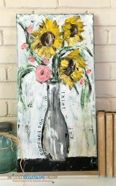 Comparison Is The Thief Of Joy | Sunflower Painting