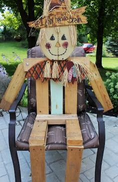 How to build a sitting frame for a Scarecrow then I would dress him-flannel shirt & levi's
