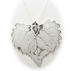 Silver Plated Cottonwood Real Leaf Pendant Sterling Silver Serpentine Chain Necklace 18 Inch Pendants by Joyful Creations,http://www.amazon.com/dp/B00D6UYU48/ref=cm_sw_r_pi_dp_g5-ytb0D2XCG94VA