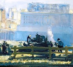 bofransson:    Blue Mornings, Bellows, George Wesley (1882-1925)