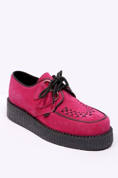 Hot Pink Suede Creepers