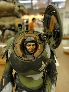 Nice Leather lining in robo armour. 2012.06.25 大阪MA.K.モケイテンジカイ by SSSNNNBBB, via Flickr