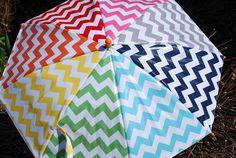 DIY Chevron Umbrella. So fun! ( tutorial)