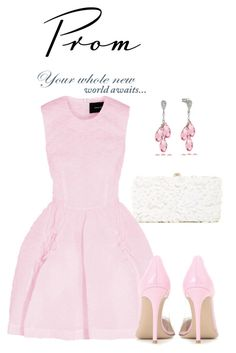 """Prom-Do-Over: Your Dream Dress"" by louise-frierson ❤ liked on Polyvore featuring Deux Lux, Simone Rocha, Angelo and Gianvito Rossi"