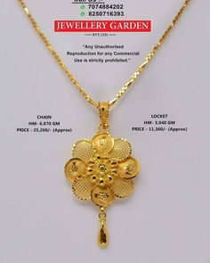 Pendant Gold Chain Design, Gold Bangles Design, Gold Earrings Designs, Gold Jewellery Design, Gold Pendent, Gold Chain With Pendant, Gold Jewelry Simple, Golden Jewelry, Gold Mangalsutra Designs