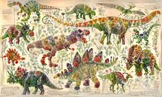 A Neural Network Turned a Book of Flowers Into Shockingly Lovely Dinosaur Art