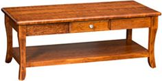 Amish Outlet Store : Berkley Coffee Table w/Drawer in Oak