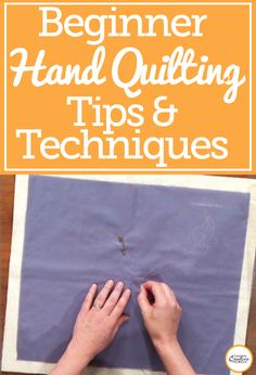 Have you ever wanted to give hand quilting a try, but didn't know how to get started? Well, Mary Kate Karr-Petras provides you with helpful tips and techniques for hand quilting. Improve your quilting skills by learning how to hand stitch with accuracy and control. Find out what materials you need and get to work on your hand stitched quilt now!