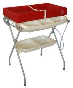 Baby Diego Bathinette   Bath U0026 Changer Combo   Posh Red