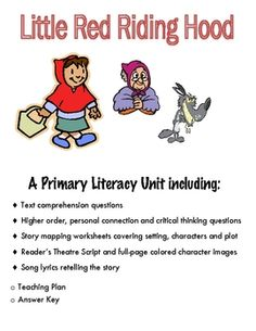 This unit will build reading comprehension skills while allowing the students to have fun with literacy. A range of activities, including drama and singing, are provided to help you cater to the different needs in your classroom.